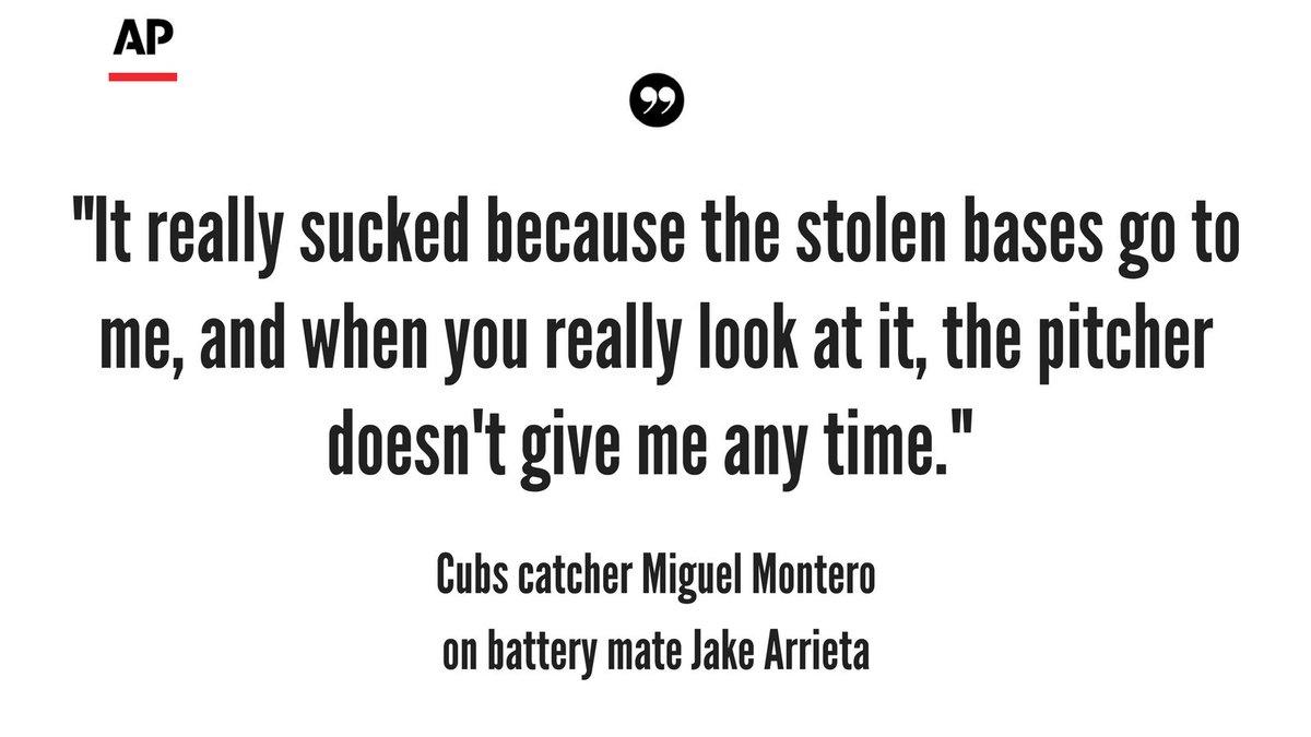 Cubs catcher Miguel Montero blames Jake Arrieta for Nats' 7 stolen bas...