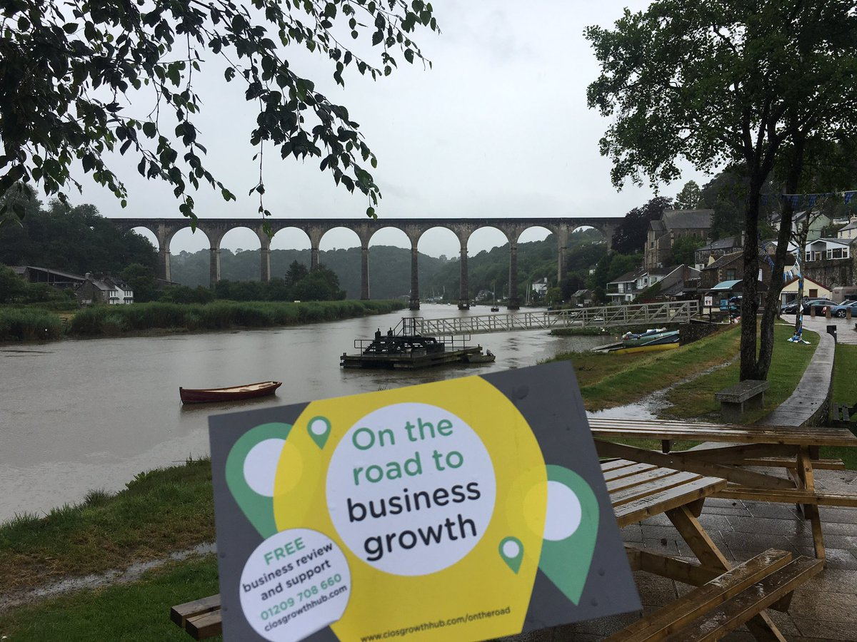 On the road in Calstock talking business support #TownTakeover <br>http://pic.twitter.com/jNSLMjA5zc