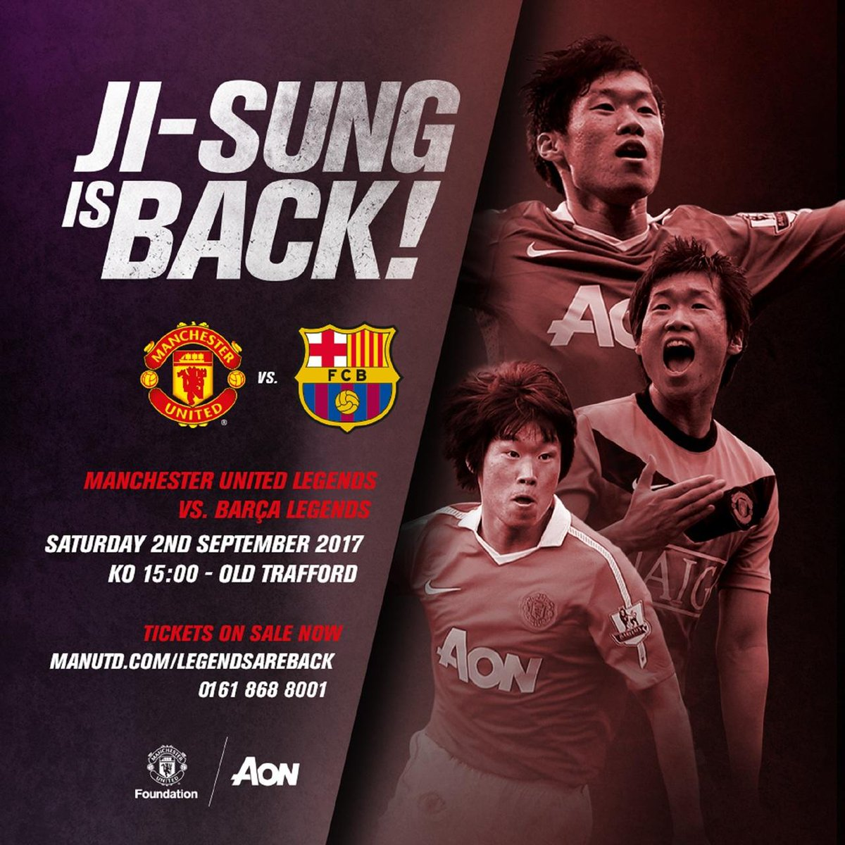 #MUFC Legends face Barcelona at the Nou Camp on Friday - and Ji-sung Park will be among those featuring for the Reds!
