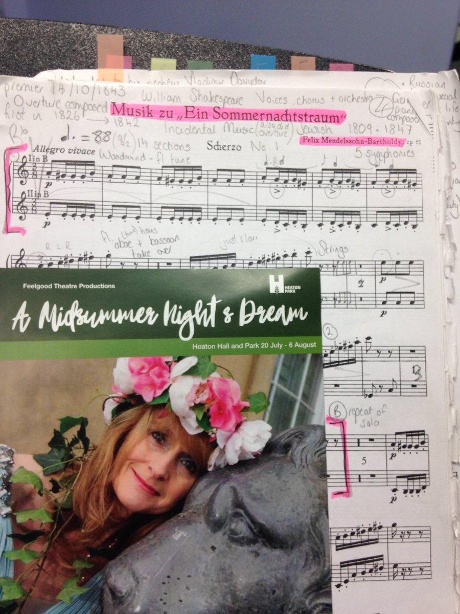 My day is just #Midsummernightsdream - advertising work for @FeelgoodTheatre this a.m and now practicing the Mendelssohn! #clarinet <br>http://pic.twitter.com/BWrPE5IXjF