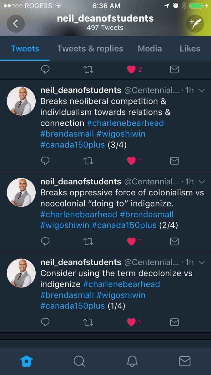 Thanks for sharing this Charlene Bearhead, Brenda Small and @CentennialDoS. #decolonize #muchtolearn #canada150plus #resist150 #SAcdn<br>http://pic.twitter.com/05fIBAD1f6
