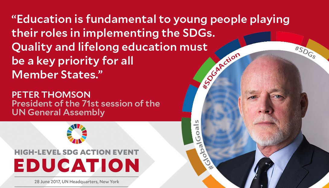 Welcoming everybody to today's #SDG4Action event on Education. Watch l...