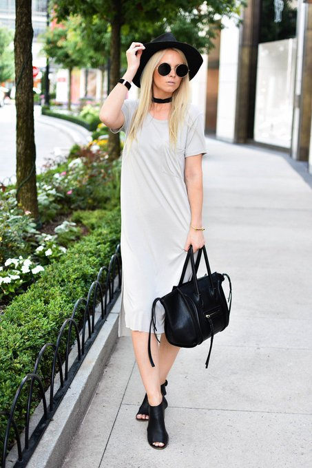 OUTFIT RECIPE: T-SHIRT DRESS TWO WAYS.