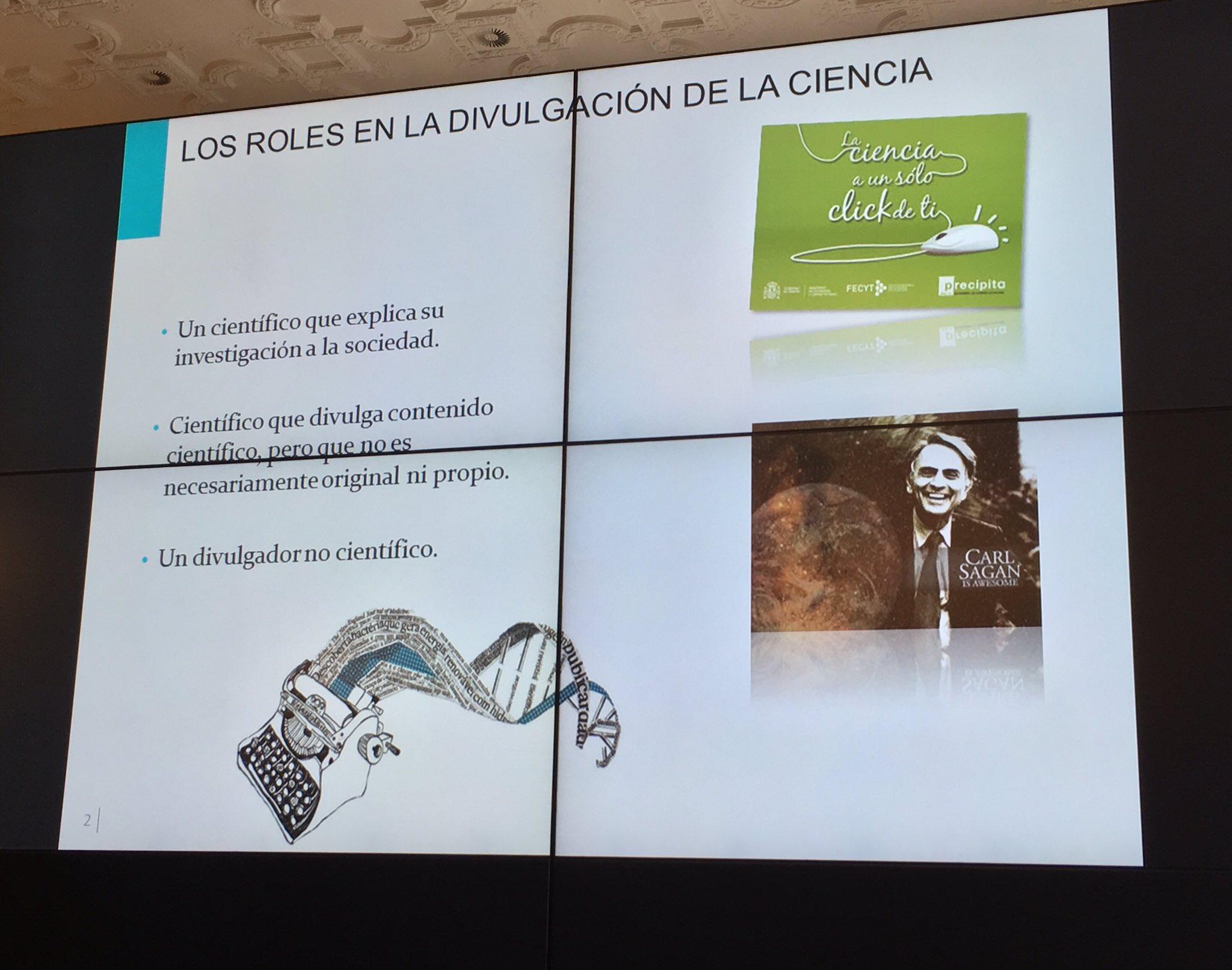 Roles de la #divulgacion de la #Ciencia expone @Nvera68 de @FECYT_Ciencia en #UIMPdivulgaCiencia https://t.co/90QxGnvp0G