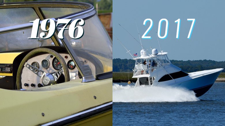 "In 1976, a ""big"" center console saltwater fishing boat was 20' long. #ModernFish #LetAmericaFish https://t.co/5tSUJF8iJa"
