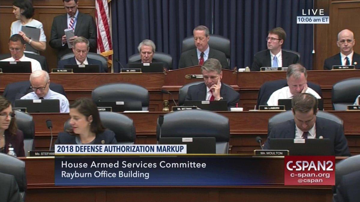 #HASC markup of Defense Authorization Bill #FY18NDAA – LIVE on C-SPAN2...