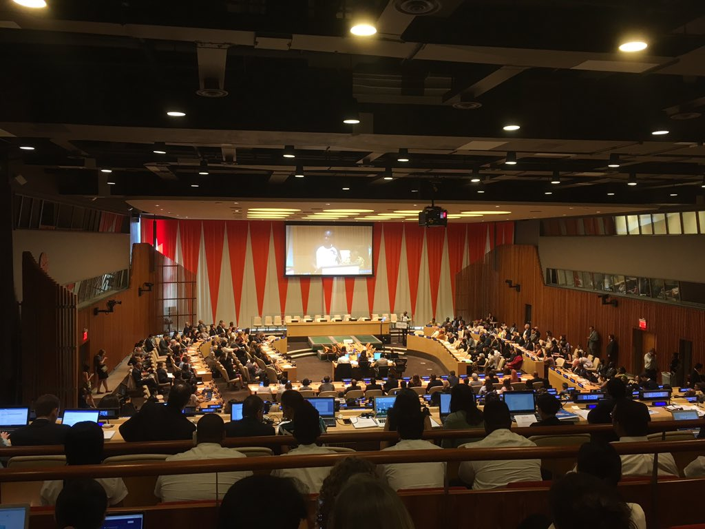 &quot;All human beings are meant to help one another.&quot; -Saul Mwame at UN high level event on education. #SDG4ACTION #TeachSDGs @GlobalGoalsUN<br>http://pic.twitter.com/x4NbahxcUc