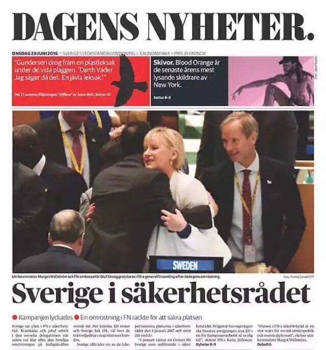 One year ago today, Sweden was elected to a seat in the UN Security Council. Now, we are living up to the expectations. #UNSC