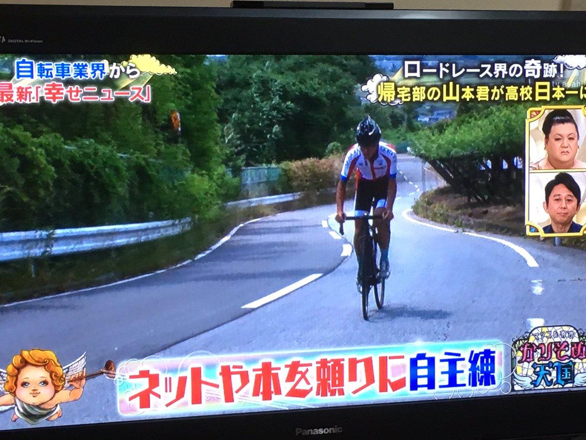 帰宅部の山本くん、高校までの10kmを自転車通学するうちにロードレースに目覚め、自転車歴たったの10ヶ月で高校日本一。しかも学校に自転車部がないのでアシスト無しの単騎で優勝の快挙。