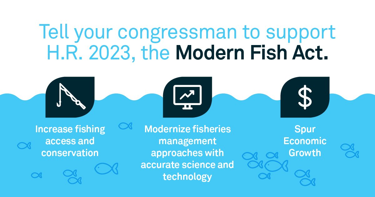 A lot has changed since 1976, but MSA's antiquated policies still manage how we fish. Congress must act now! #ModernFish #LetAmericaFish https://t.co/EKWBa4PdBK