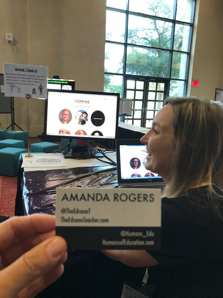 Connect with @TheEdsaneT about @Humans_Edu Great opportunity for students! #ISTEGlobalPLN #ISTE17 <br>http://pic.twitter.com/ik8YDp30aW
