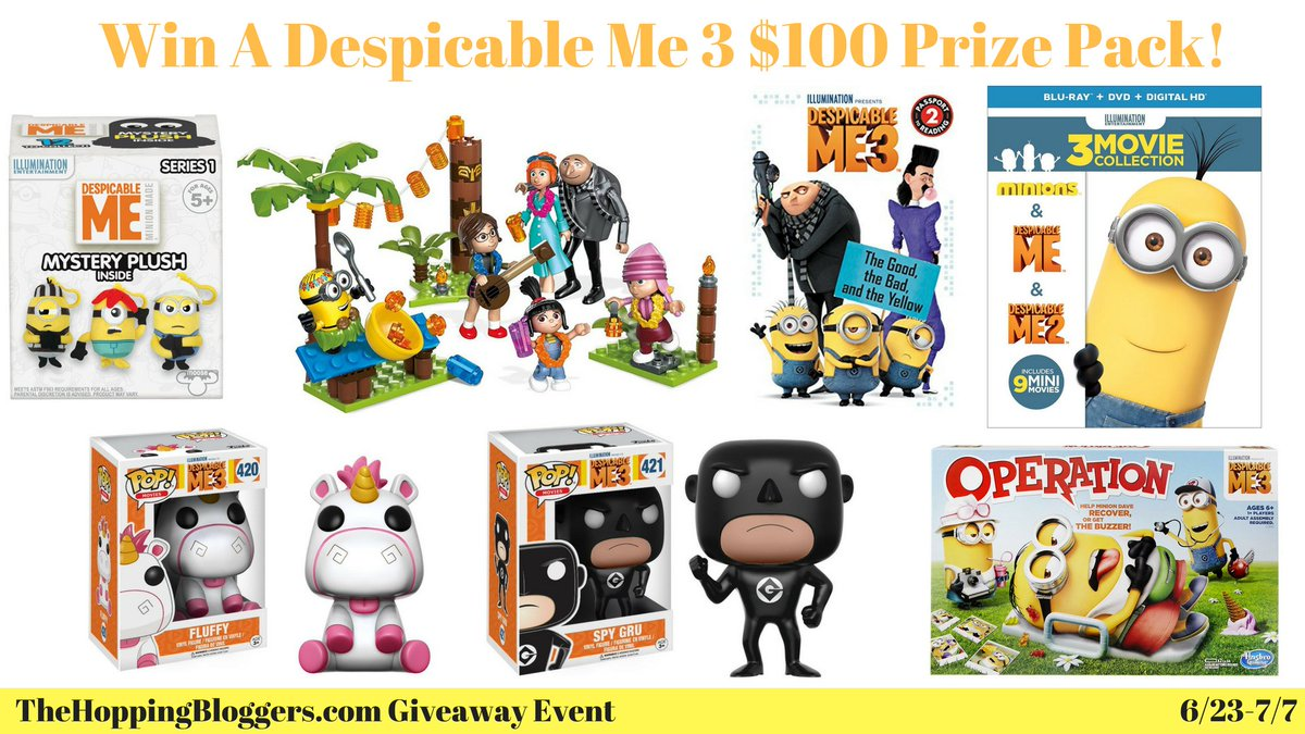 Enter to #Win a #DespicableMe3 $100 Prize Pack #Giveaway #sweeps #ente...