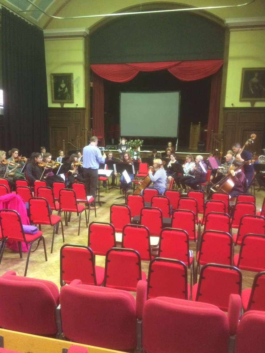 #orchestra rehearsing for #summer #celebration tonight at 7:30. Is that @edsheeran on percussion?<br>http://pic.twitter.com/Hsg42v2P4k