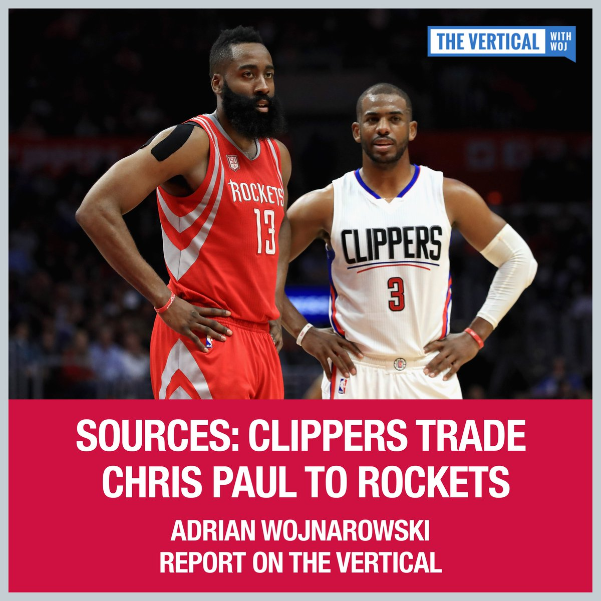 The Rockets are pairing Chris Paul with James Harden. @WojVerticalNBA...