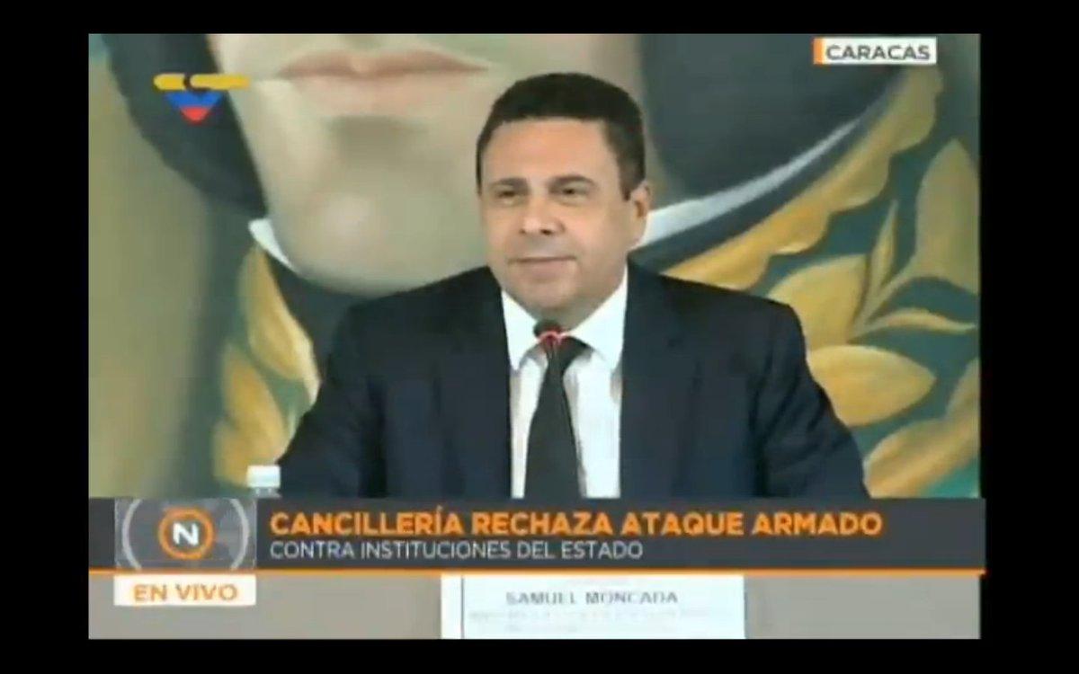 🔴🆕 || Canciller Samuel Moncada denuncia que los medios ponen al psicóp...