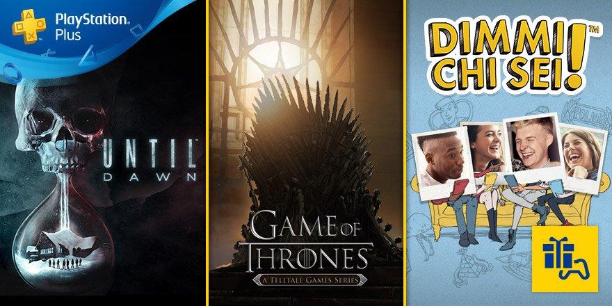 I tuoi giochi #PSPlus di luglio sono #UntilDawn, #DimmiChiSei! e #Game...