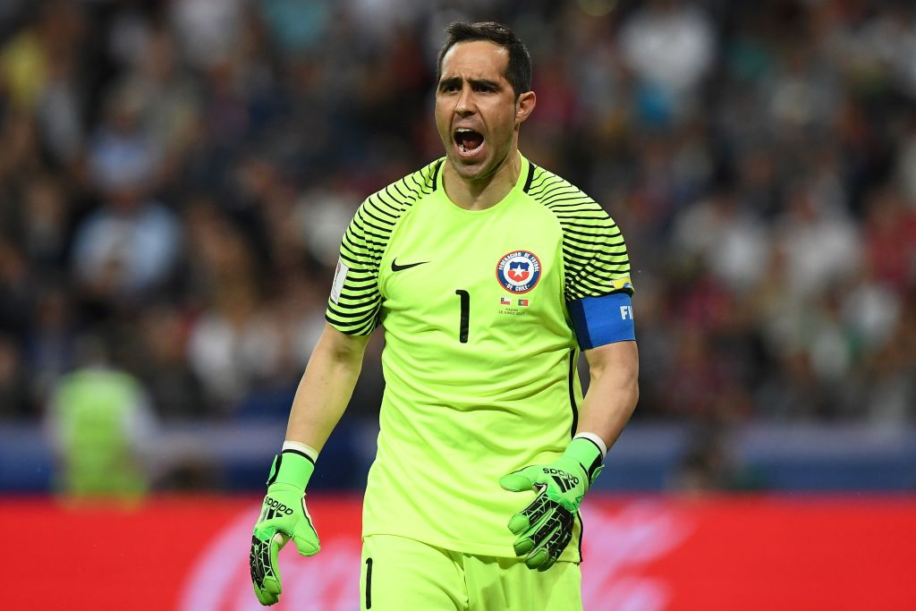 Chile reach the Confederations Cup final for the first time after beating Portugal on penalties.  Chile: ✅✅✅ Portugal: ❌❌❌  Bravo saves 3!