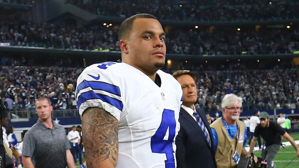 WATCH: @dallascowboys QB Dak Prescott will only be happy once he gets...
