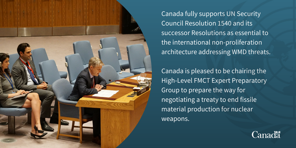 Canada spoke at the #UNSC debate on the non-proliferation of weapons of mass destruction today. #WMD<br>http://pic.twitter.com/ay9NY4mwiC