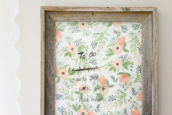Farmhouse Home: How to Make your own Dry Erase Board
