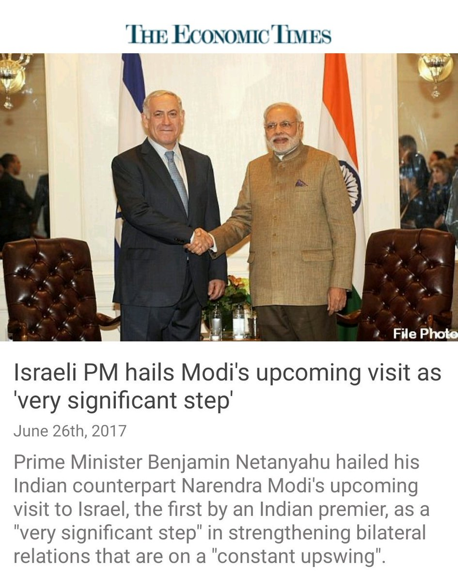 #Israeli PM hails PM #Modi&#39;s upcoming visit as &#39;very significant step&#39;   http:// economictimes.indiatimes.com/news/politics- and-nation/israeli-pm-hails-modis-upcoming-visit-as-very-significant-step/articleshow/59311056.cms?utm_source=contentofinterest&amp;utm_medium=text&amp;utm_campaign=cppst &nbsp; …  via NMApp #SuperPMNaMo<br>http://pic.twitter.com/m1MEhiFT02