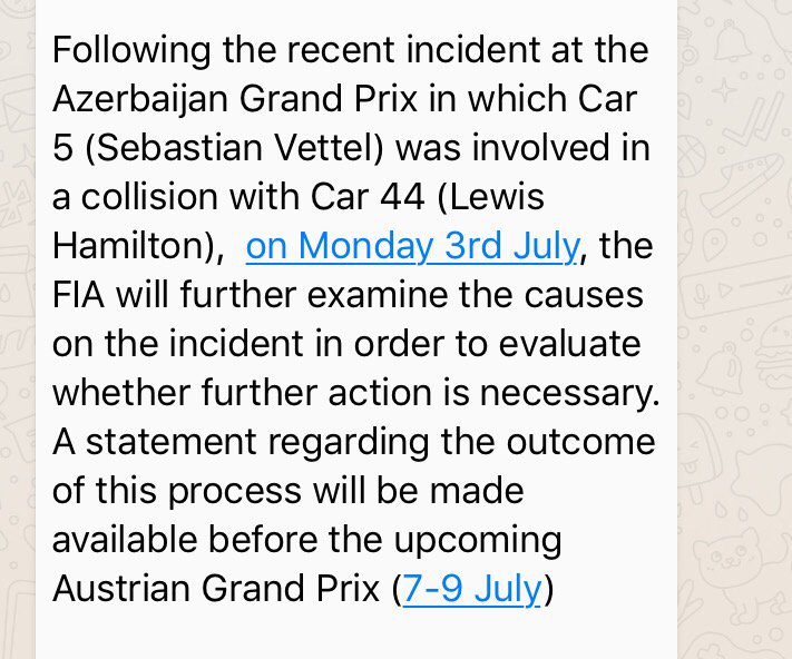 Statement from @fia this afternoon https://t.co/7ZBtV85dAw