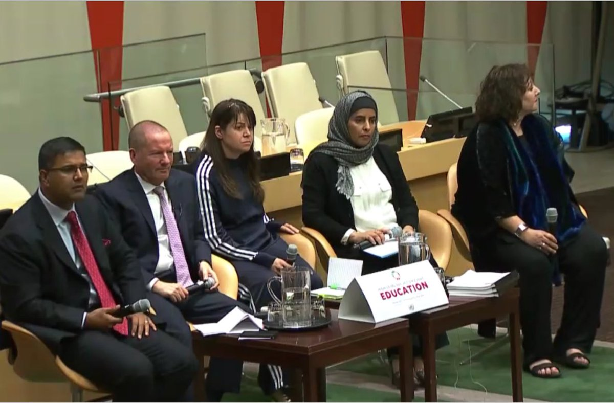&quot;Harness the creative talents of teachers &amp; their students&quot; - Ms. Asmaa Alfadala @UN Action Event on Education #SDG4 @WISE_Tweets #TeachSDGs <br>http://pic.twitter.com/QN0zKA9Skv