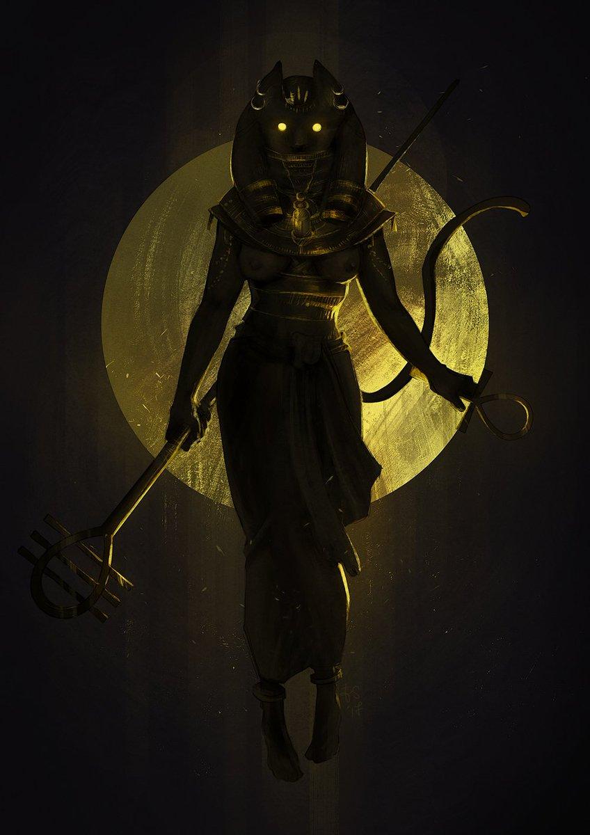 my entry for the CDC of this month: Bastet! #digitalpainting #characterdesign #goddess #egypt #bastet<br>http://pic.twitter.com/HpCydIHZYe