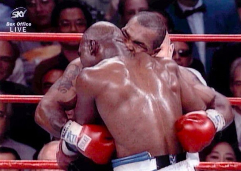 20 YEARS AGO TODAY: @MikeTyson infamously bit off Evander @Holyfield's...