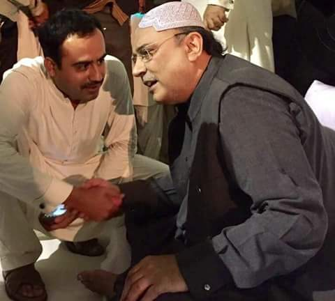 Candidate for President #PSF Sindh @JavedNLaghari With Former President Of #Pakistan &amp; Presisent PPPP @AAliZardari Sahib at NawabShah.<br>http://pic.twitter.com/pHiGJSRK4z