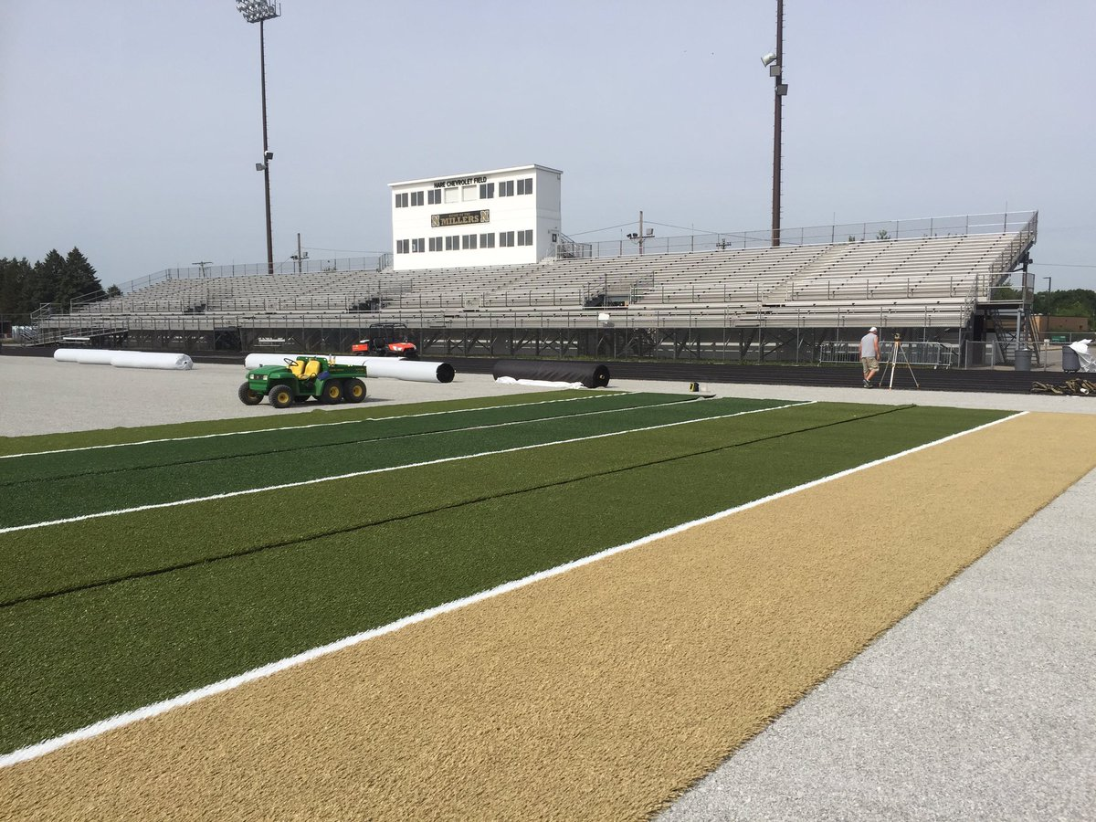 Noblesville Football On Twitter The Panels At Hare Chevrolet Field Are Starting To Come Together Another Day Another Step Closer