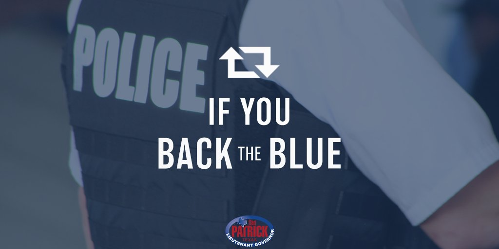 One of my top priorities is honoring and protecting the Texas men and women in law enforcement. RT to #BacktheBlue! #txlege<br>http://pic.twitter.com/F0GvFTK8zJ
