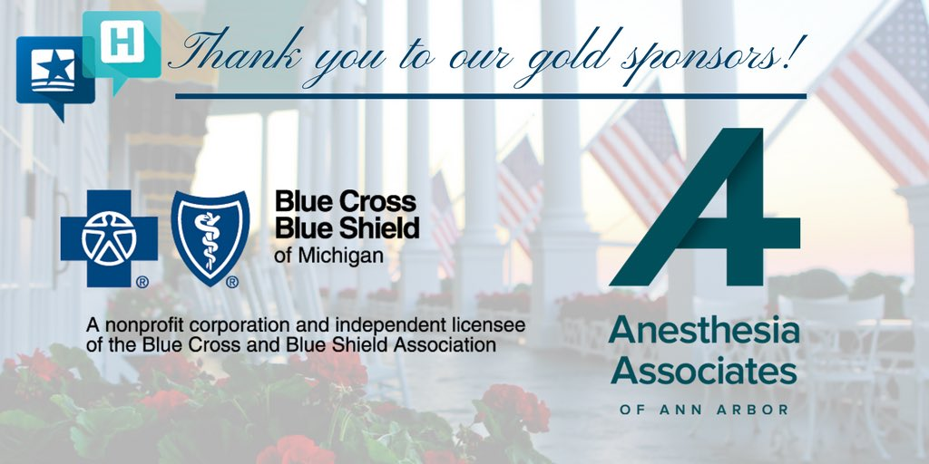 Thank you to the gold sponsors of our #MHAannual Meeting! We greatly appreciate your support! @BCBSM @A4Anesthesia https://t.co/AgEW8mloMw