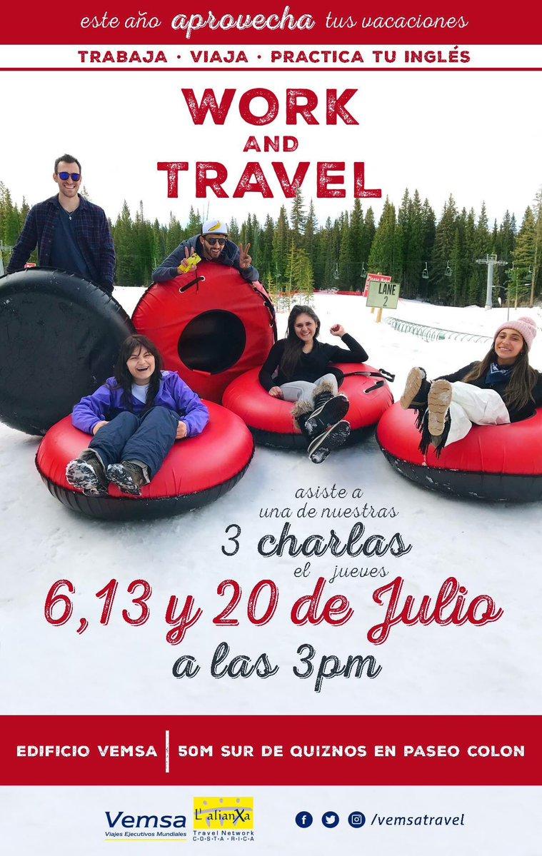 """@ExpoUCostaRica #WorkandTravel con la gente de @VemsaTravel 🙌🏻 #expou #viajes "" https://t.co/hNxX4bJcYs"