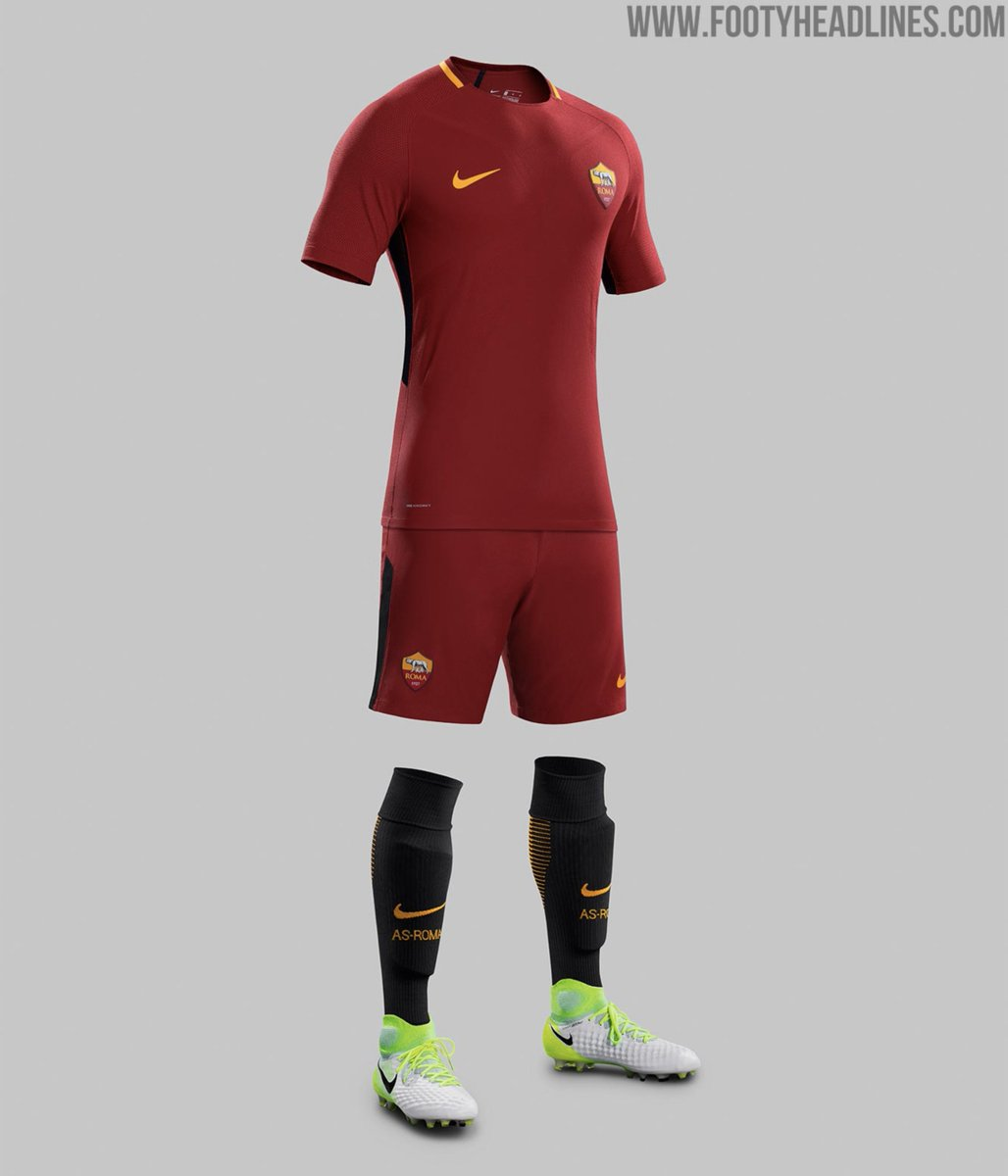 CLASS: The @ASRomaEN 2017/18 Home and Away @NikeFootballl kits. 😍🔥  Al...