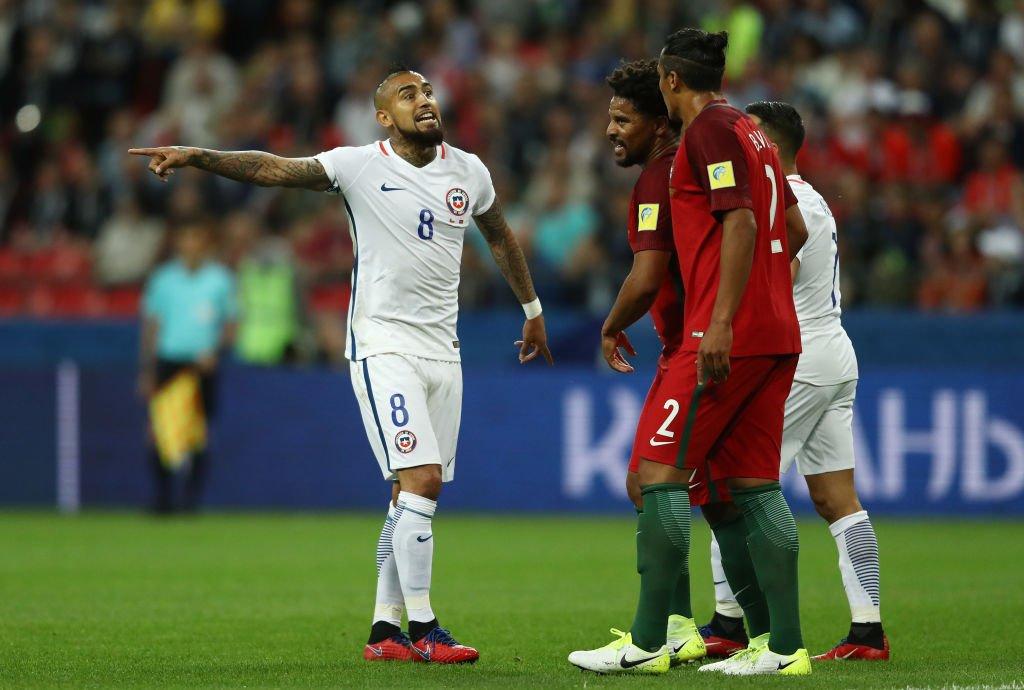 سانشيز يهدر فرصة هدف مؤكد لتشيلي ضد البرتغال والمنتخب البرتغالي يرد بإنفراد