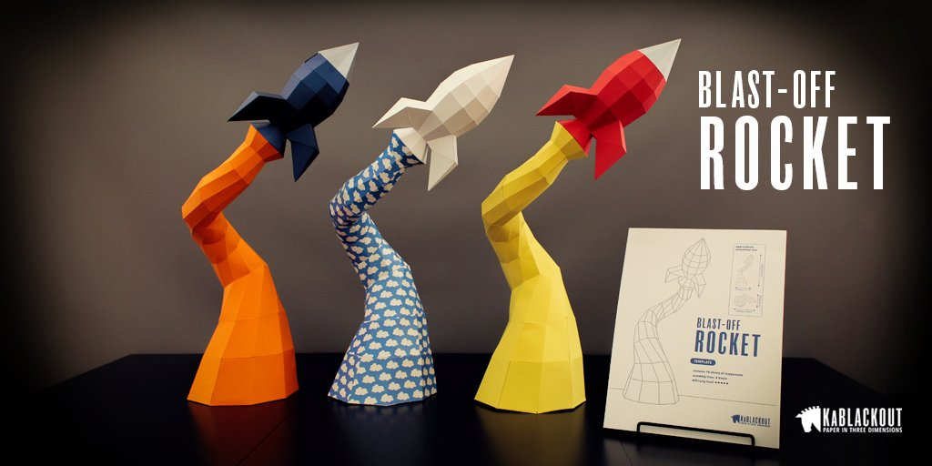 Make a unique #DIY #papercraft rocket in your favourite colours! Downloadable template from  http:// etsy.me/2pXtnHU  &nbsp;   #HandmadeHour #homedecor <br>http://pic.twitter.com/FMKtTmmgYu