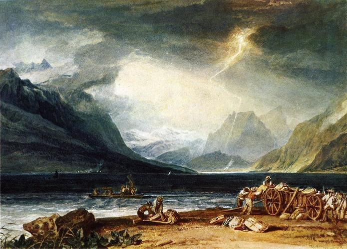 The Lake of Thun, Switzerland #arthistory #turner <br>http://pic.twitter.com/4DBkiskQeA
