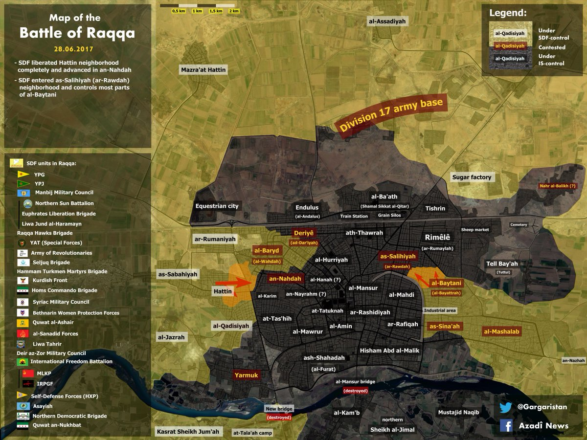 Gargari on Twitter Map of the Battle of Raqqa 28062017