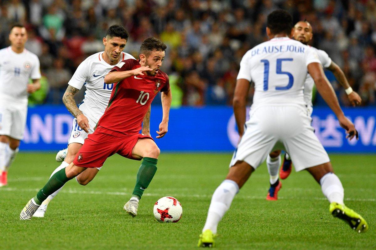 #LiveBolanet HT: Portugal 0-0 Chile | Possessions: 44%-56% | Shots: 6-...