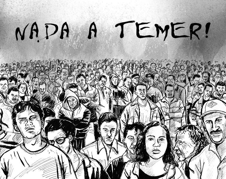 Não temos nada a temer! Juntos somos mais fortes! #ForaTemer #SextaTemGreve