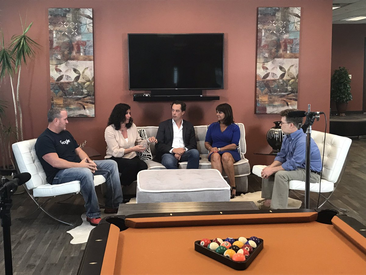 Behind the scenes look at @Advice_Local video shoot on the future of #local marketing featuring @gsterling, @BernieColeman and others.<br>http://pic.twitter.com/aL9FAkEssA