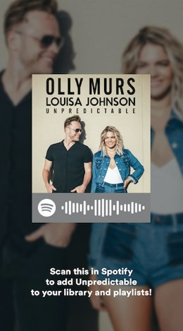 Scan on @SpotifyUK to stream #Unpredictable and add to your playlists! OllyHQ https://t.co/vPaiQZKpNZ