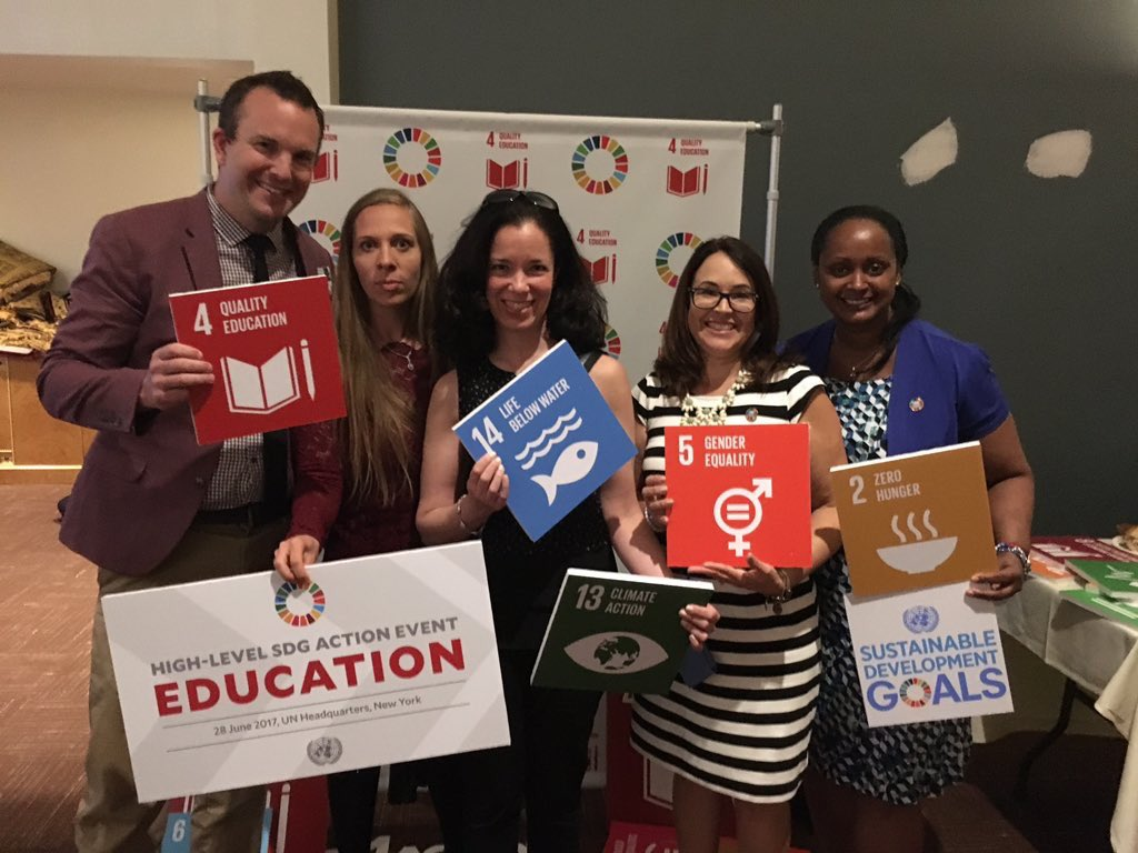Education discussions should always include educators. Today, these five #TeachSDGs volunteers paid their own way to make it so. #SDG4action<br>http://pic.twitter.com/I5v2DKHmJD