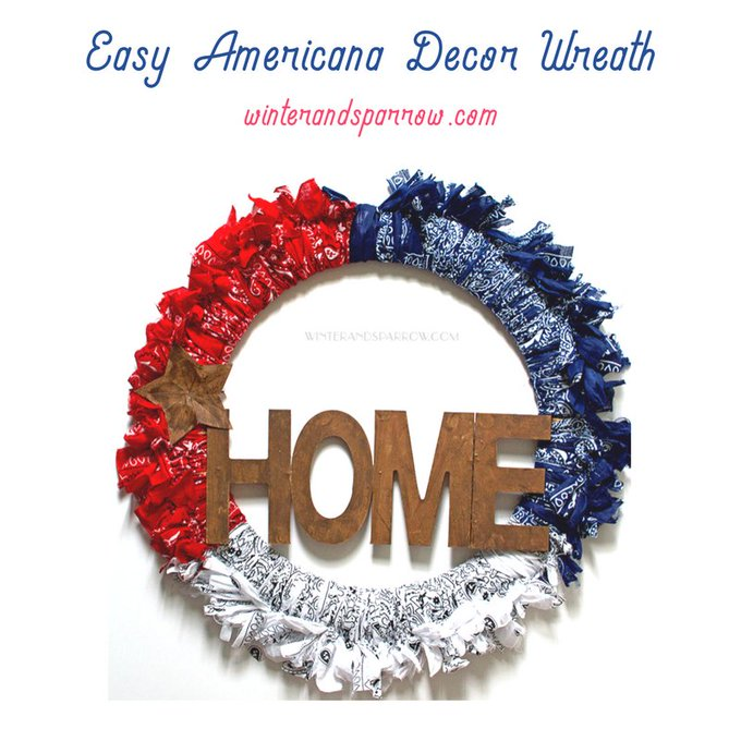 Easy Americana Decor Wreath #DIY