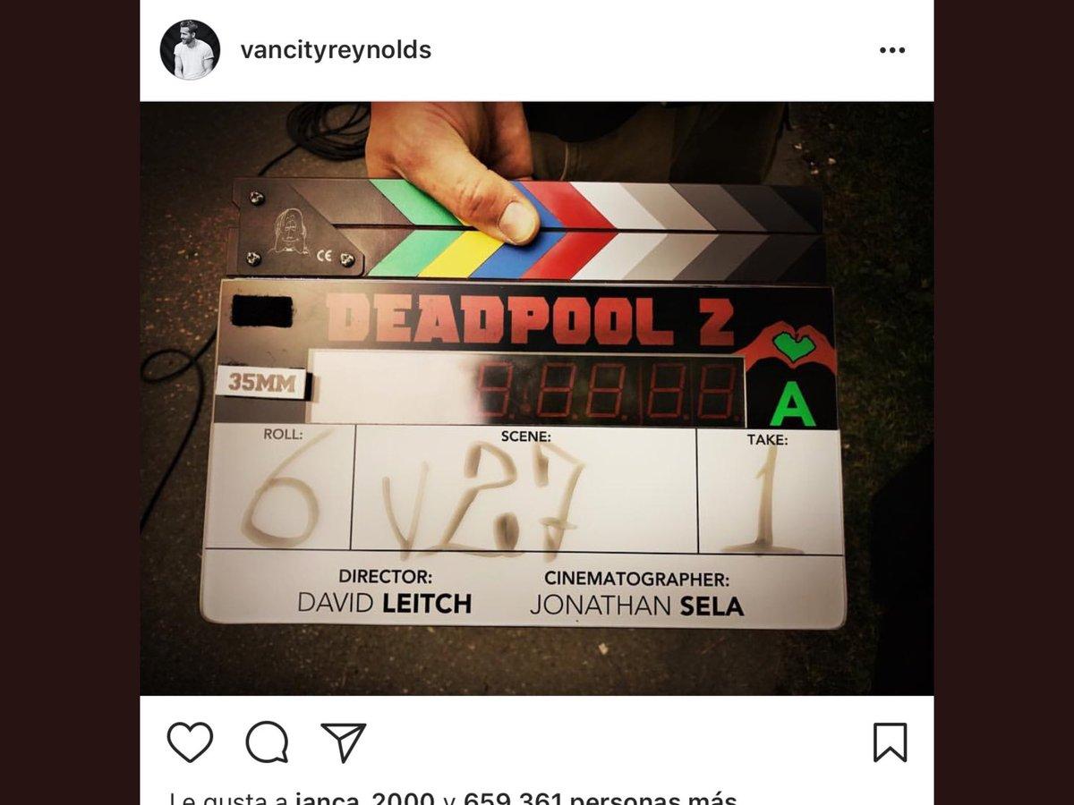 #RyanReynolds publicó una imagen en #Instagram del rodaje de #Deadpool...