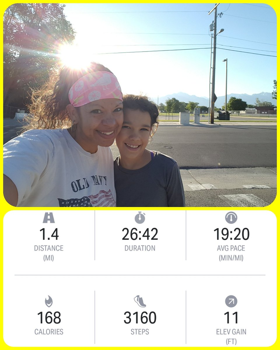 #Walked with #Alegría today! Went a little #faster &amp; a little farther...#working our way to #jogging!   #runlife #progress #momanddaughter<br>http://pic.twitter.com/BbrJ4m5lYO