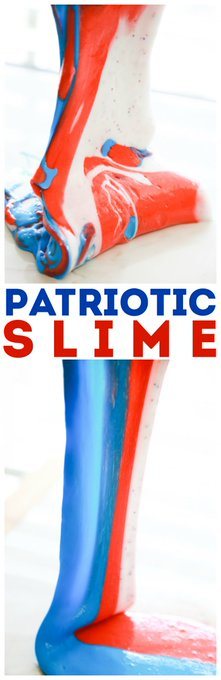 How to Make Patriotic Slime
