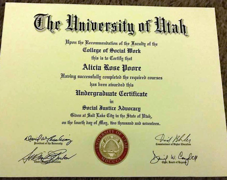 Utah Social Work On Twitter Congrats To 2017 Bsw Grad Alicia