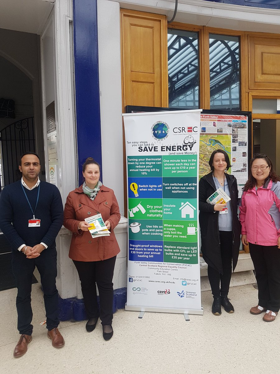 Great day spent by @fvc4c staff and volunteers speaking to commuters at Stirling Train Station about energy efficiency #ecofriendly <br>http://pic.twitter.com/gwWNdmMFSO